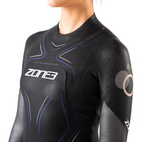 Zone3 Aspire Combinaison Femme, black/gun metal/purple